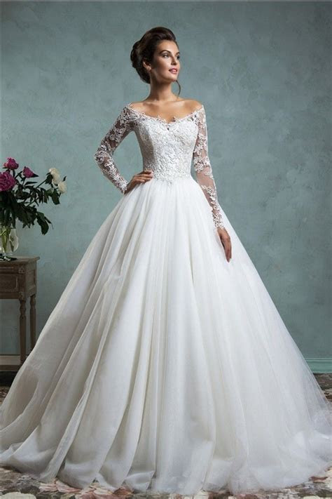 Sexy Ball Gown Off The Shoulder Tulle Lace Wedding Dress
