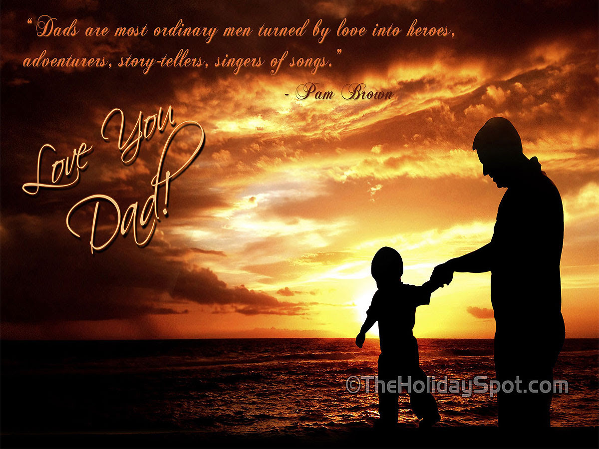 HD father s day wallpapers featuring bond between father and son
