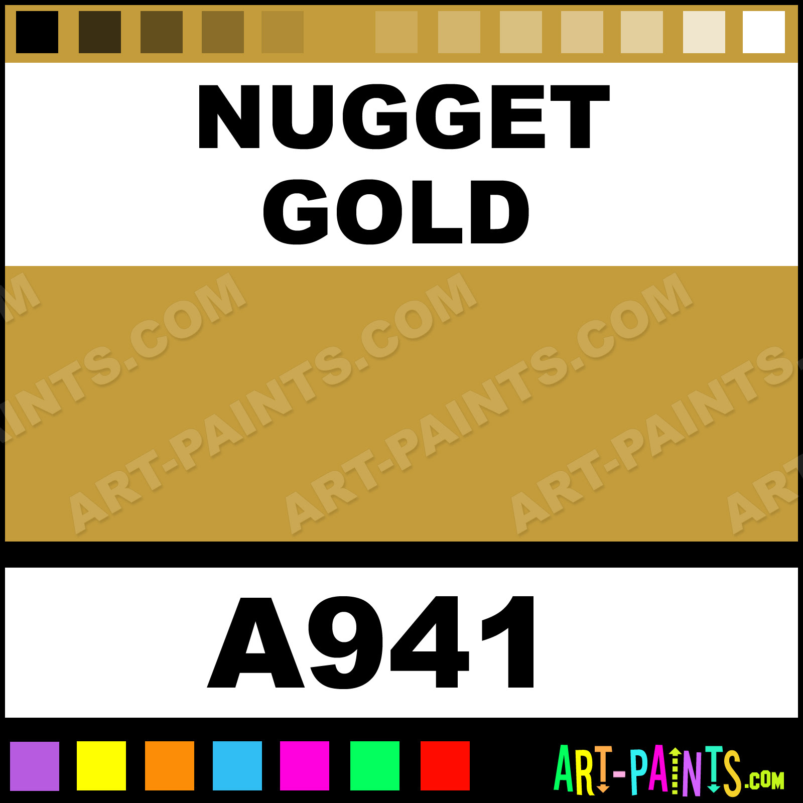 Download Nugget Gold Ultra Ceramic Ceramic Porcelain Paints - A941 - Nugget Gold Paint, Nugget Gold Color ...