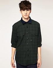 Barbour Widdrington Tartan Cord Collar Shirt