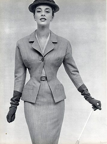 Christian Dior 1953 Suit, Photo Pottier #EasyNip
