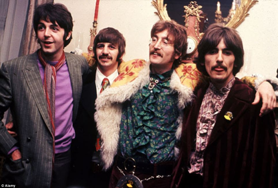 Legendary: The Beatles in the Apple offices, in London, for the launch of Sgt Pepper's in June 1967 - the album went on to sell 70m copies