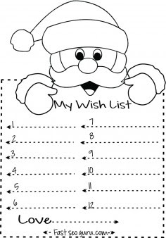 Print out christmas wish list to santa write template ...