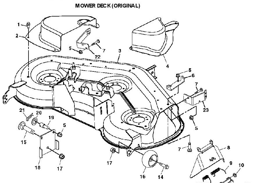 John Deere L130 Deck Parts Diagram