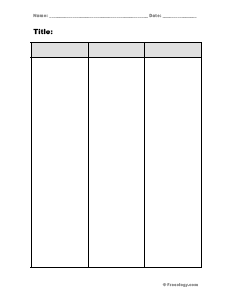Blank 3 Column Chart
