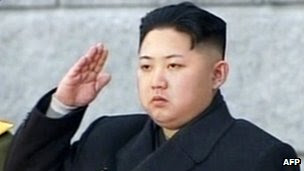 Grab from North Korean TV on 28 December 2011 shows Kim Jong-Un saluting during his father Kim Jong-Il's funeral at Kumsusan Memorial Palace in Pyongyang