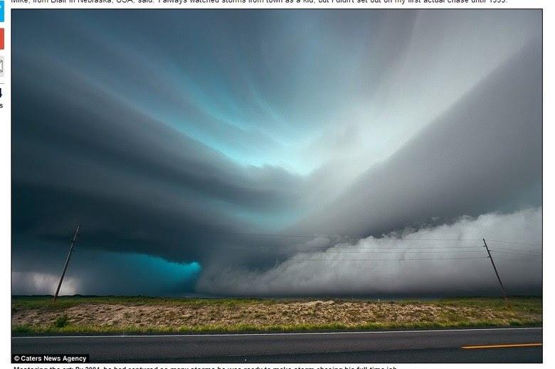 A velocidade de um tornado pode chegar a 180 km/h