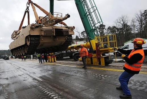 tanks from germany coming to US