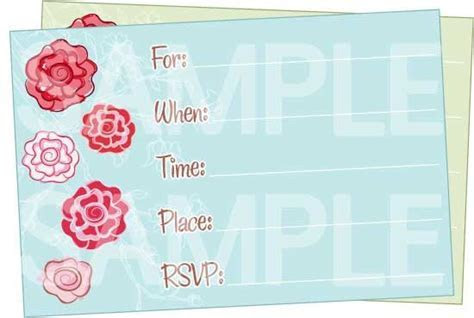 Cute Floral Printable Birthday Invitations   Free