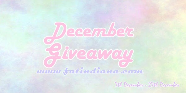 December Giveaway by Fatin Diana