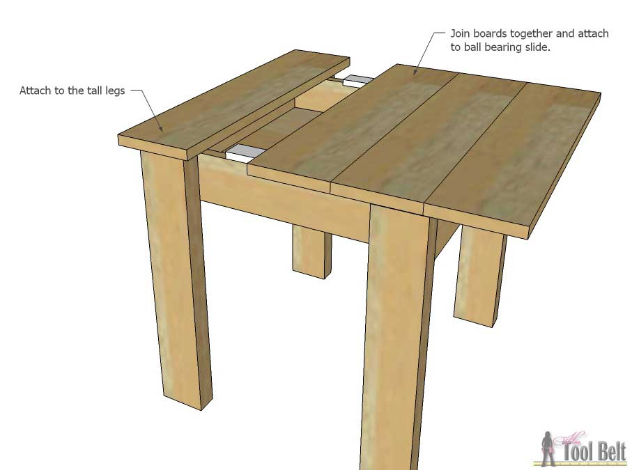 Kids table sliding top add top