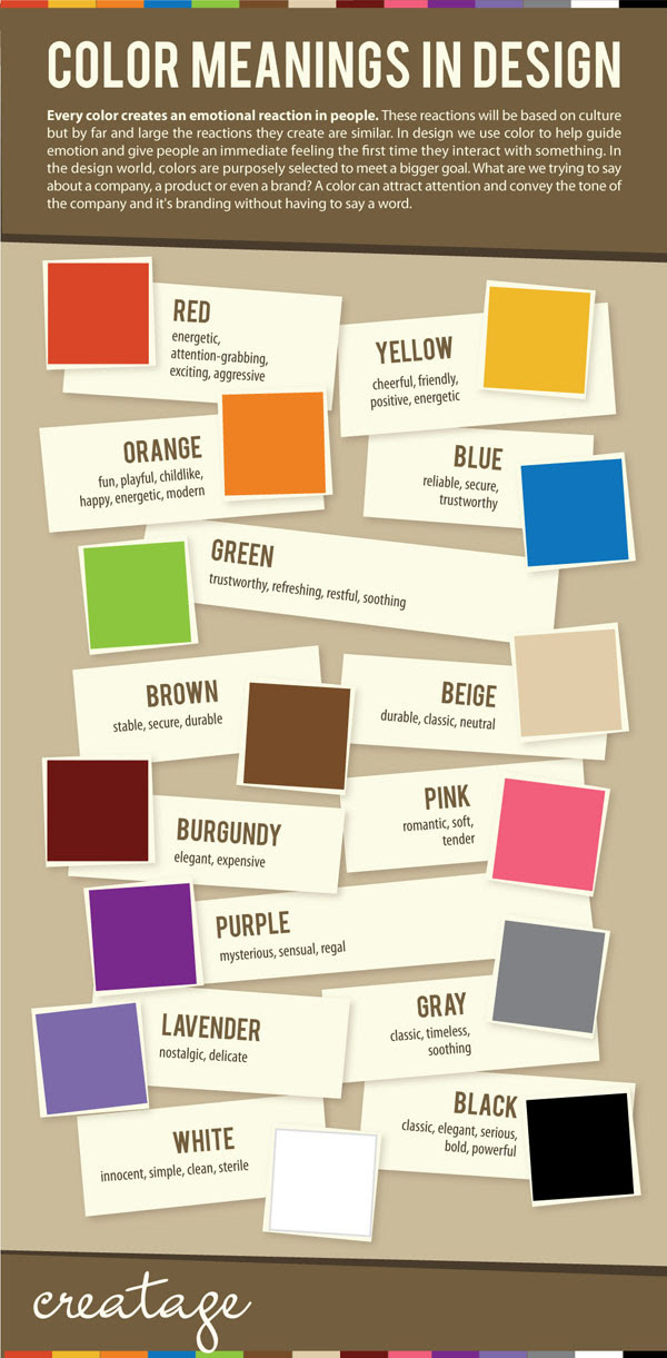 Color Meanings in Design Infographic - Smashfreakz