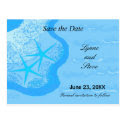 Starfish and Ocean Save the Date Postcards