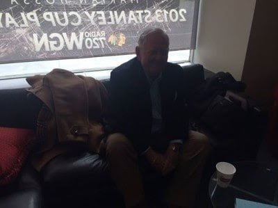 Joel Daly in the WGN Radio green room