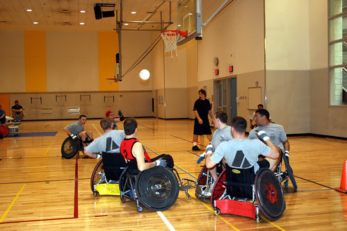 Cadets play along side those with disabilities