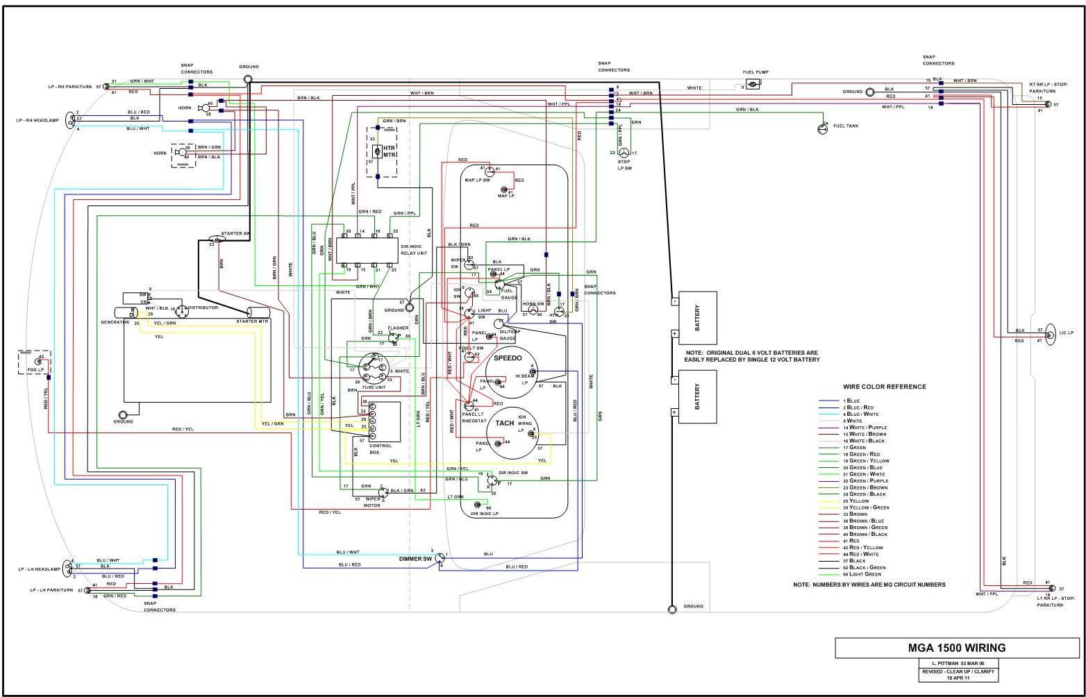 Wiring help need diagram 1960 mga 1500 : MGA Forum : MG ...