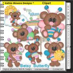 Betsy Butterfly Clipart - CU