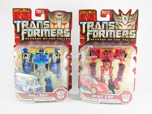 Transformers Dead End y Rollbar Scout RotF - cajas
