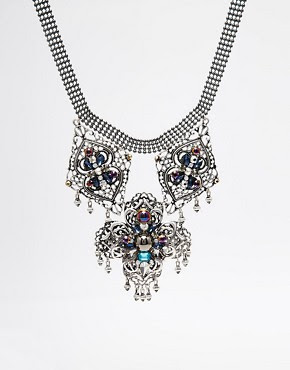 Image 1 of ASOS Solstice Filigree Collar Necklace