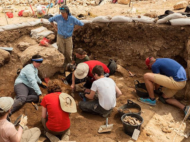 Excavating at Tel Shilo, Photo, CBN News, Jonathan Goff