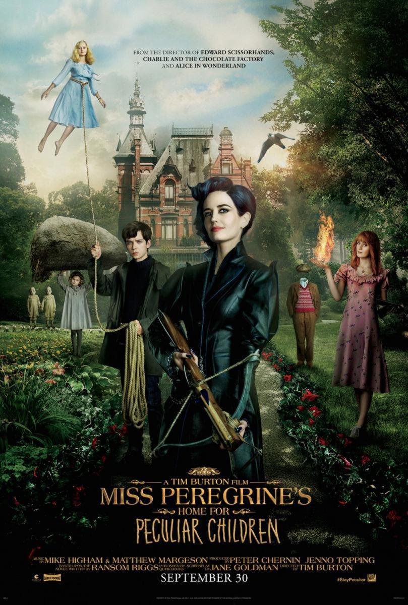 póster de El hogar de miss Peregrine para niños extraordinarios