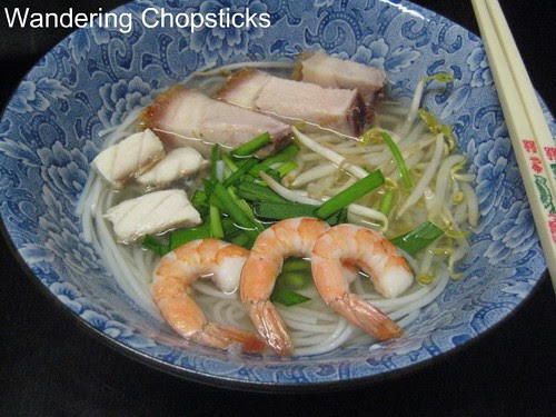 Bun Nuoc Leo Soc Trang (Vietnamese Rice Vermicelli Noodle Soup in Savory Broth with Fish, Roast Pork, and Shrimp) 1