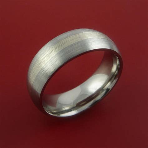 Platinum and Titanium Wedding Ring Custom Made Band Any