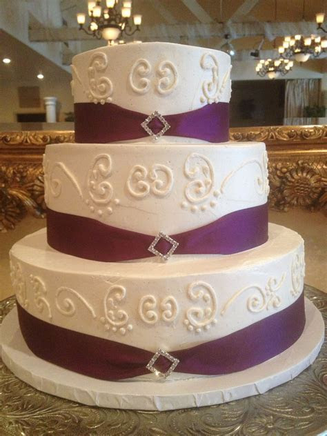 Plum purple ribbon border with rhinestone decoration