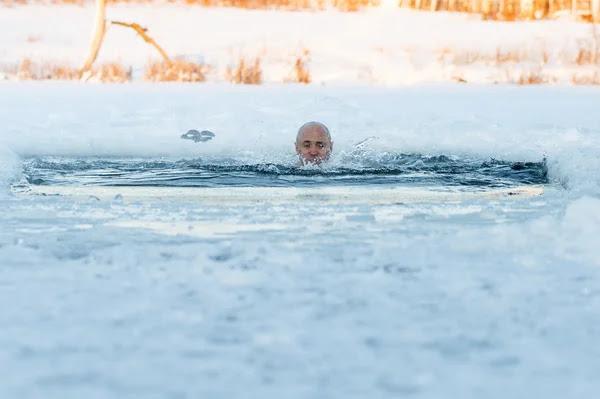 Αποτέλεσμα εικόνας για Κολύμπι στον… πάγο