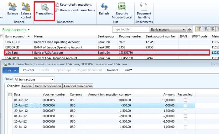 microsoft dynamics ax 2012  bank reconciliation process