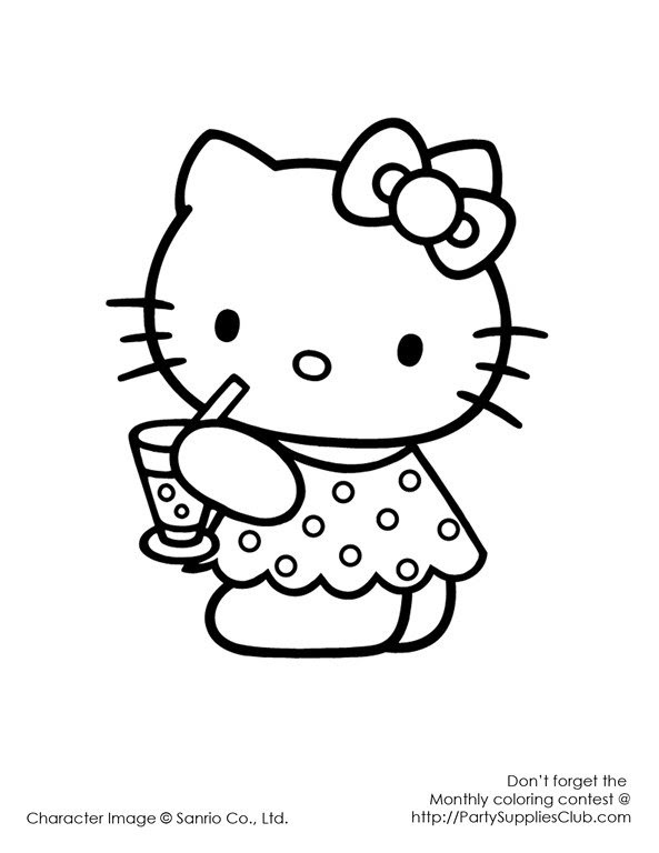 Hello Kitty Printable Invitation Template