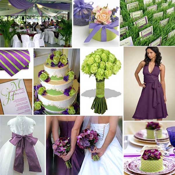 Wedding Colours Purple And Green Primadonna Bride