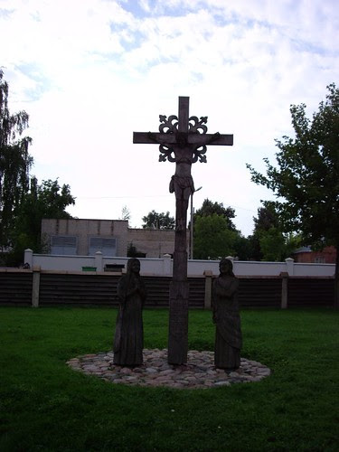 Lithuanian wood crosses