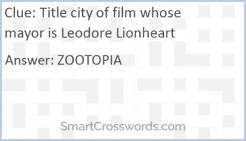 Title City Of Film Whose Mayor Is Leodore
