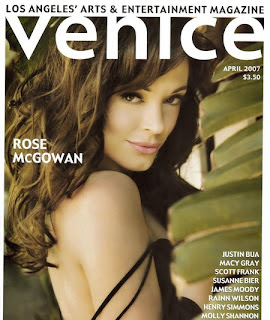 Rose McGowan graces the front cover of Venice Magazine.