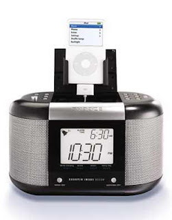 New Product Of The Day Sharper Image Sound Soother Alarm Clock With