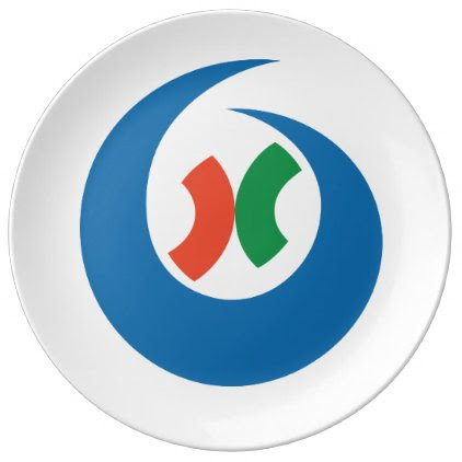Japan Prefecture Flag. Plate