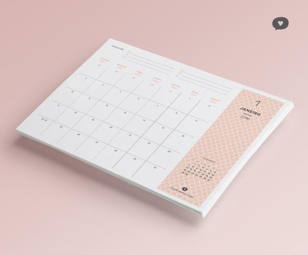 Planner Mensal 2016 - Janeiro   Blog Não Me Mande Flores