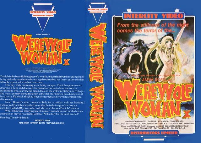 WEREWOLF WOMAN (VHS Box Art)