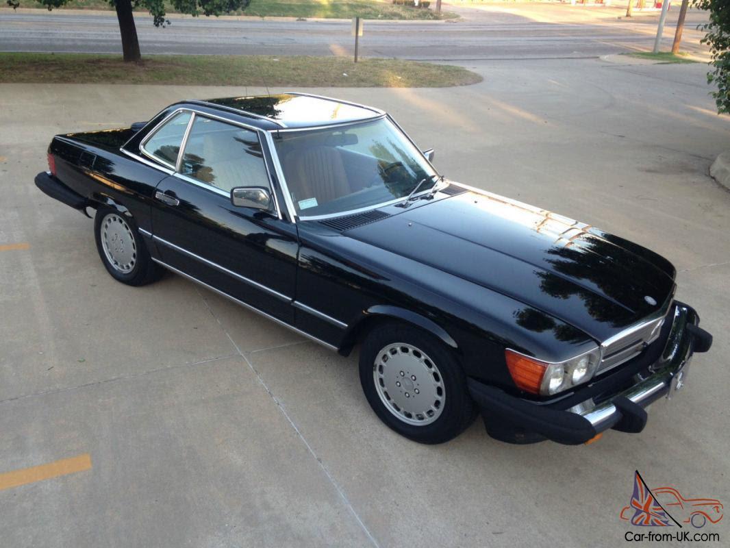 1988 Mercedes Benz 560SL Black/Tan Beautiful Condtion ...