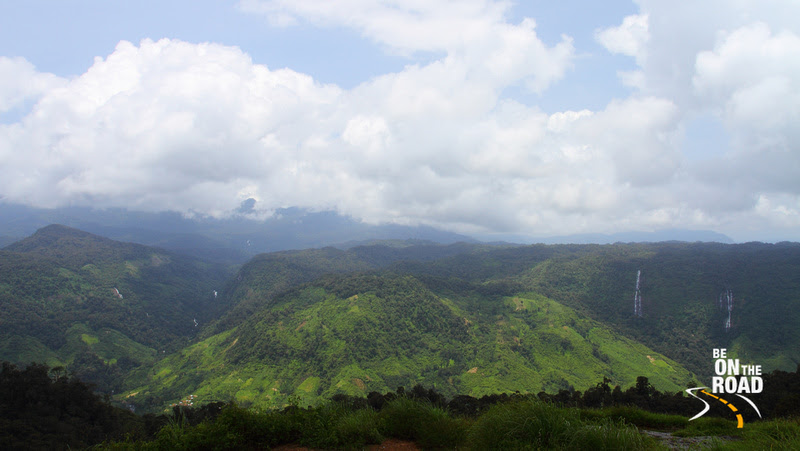 Green Western Ghats, Waterfalls Galore and the Kerala side all visible from the Nallamudi Pooncholai View Point