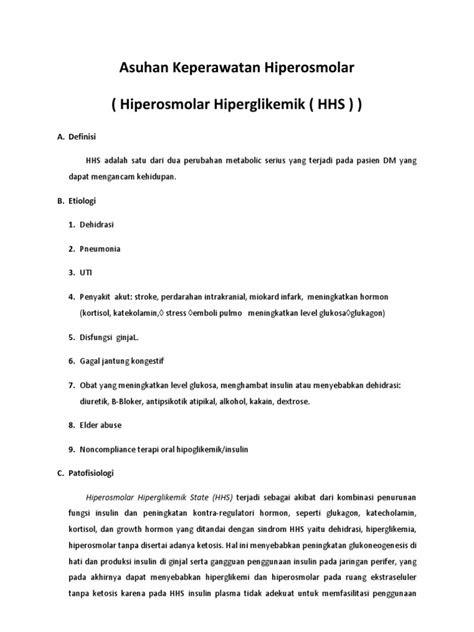 Asuhan Keperawatan Hiperosmolar ( Hiperosmolar
