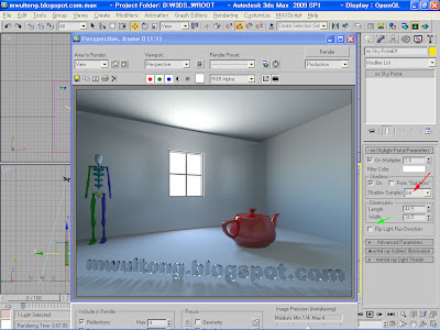 3ds Max mental ray, mr Sky Portal Example