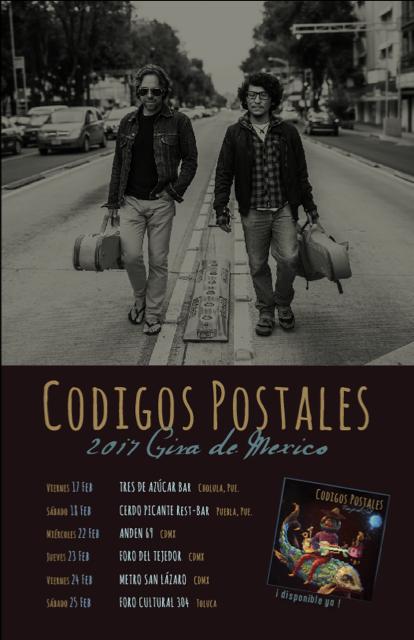"""Códigos Postales anuncia el lanzamiento de su segundo disco """"Viaje al sol"""" y gira por México"""