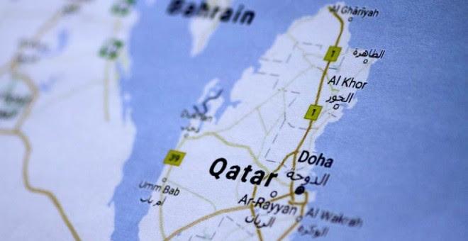 Una imagen de un mapa de Catar.   REUTERS