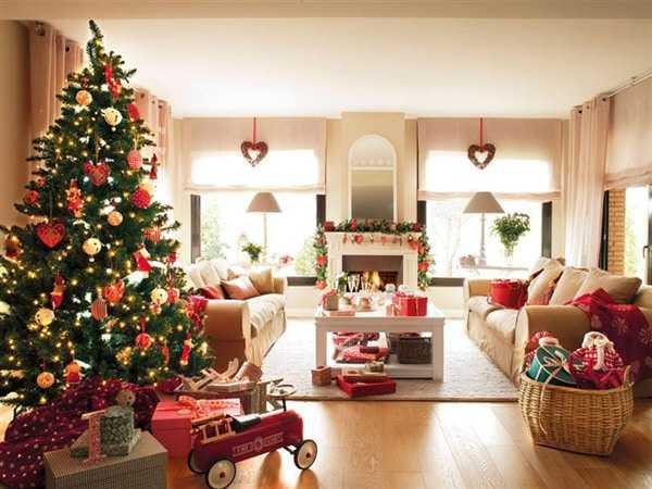 новый год дома в интерьере