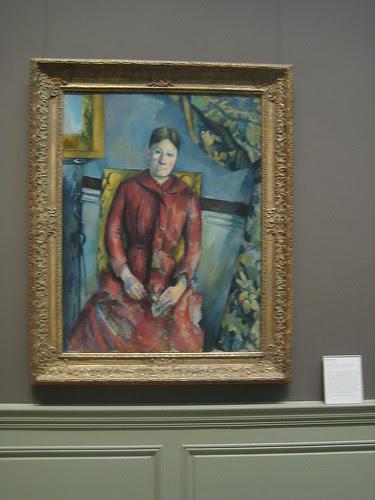 Madame Cézanne (née Hortense Fiquet, 1850–1922) in a Red Dress, 1888-90, Paul Cézanne _8400