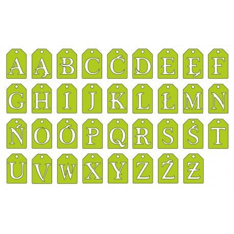 Wykrojnik Alfabet - Tagi