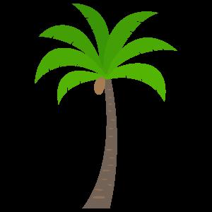 ヤシの木3 花植物イラスト Flode Illustration フロデイラスト