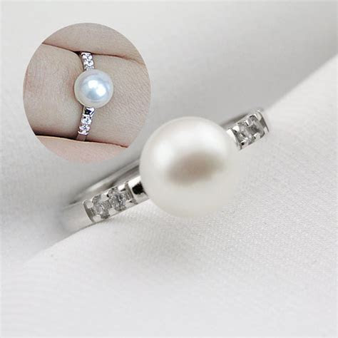 Pearl Wedding Rings For Women,open Pearl Ring,inexpensive